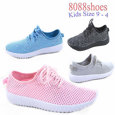 Youth Girl's Causal Lace UP Light weight Glitter Sneaker Shoes Size 9-4 New