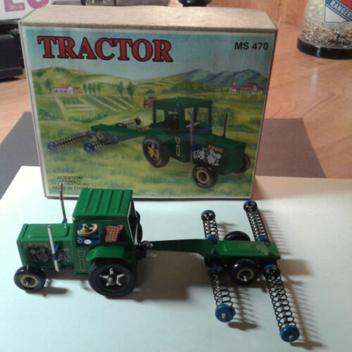 TIN TRACTOR AND CUTTER WITH BOX