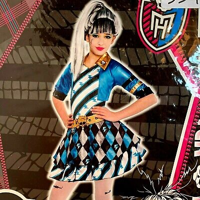 Monster High Costume Frankie Stein Deluxe Cosplay Dress-up XL 14-16 NEW](Monster High Dress Up)
