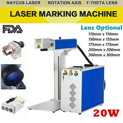 Fda 20w Split Fiber Laser Marking Engraving Machine Rotary Axis Include