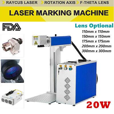 Fda 20w Split Fiber Laser Marking Engraving Machine Rotary Axis Include