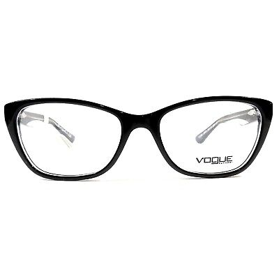 New VOGUE Optical Eyeglasses RX Frame VO 2961 W827 Black Transparent 53-17-135