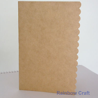 10 blank Cards & Envelopes SQUARE or C6 (9 Colors) - Scallop Wedding Invitation - C6 Kraft