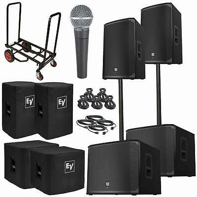 """Electro-Voice EKX-15P 15"""" Powered Speakers with 18"""" Subwoofers Used"""