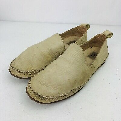 UGG Australia Delfina Wool Lined Leather Slippers 1014871 Women's Size 8