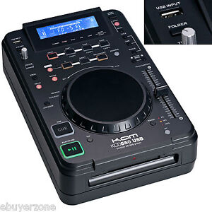 Kam KCD550 USB Desktop CD DJ Scratch USB MP3 Player Loop Reverse Play - EC