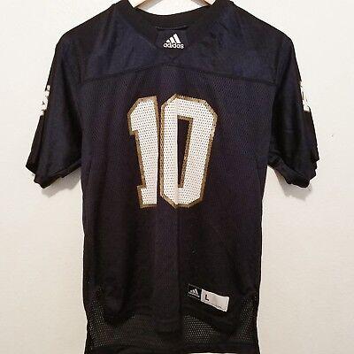 Adidas #10 Notre Dame Fighting Irish Navy Replica Football Jersey Youth L