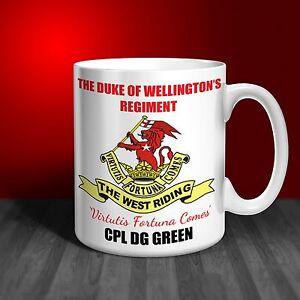 The Duke of Wellington's Regiment Personalised Ceramic Mug Gift
