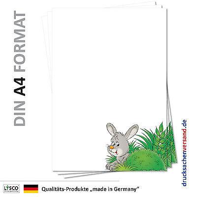 r-5110 DIN A4 Briefpapier Ostern Osterhase Wiese grünes Gras (Papier Ostern Gras)