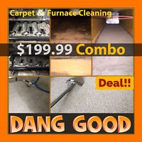$199.98 Carpet, Furnace and Duct Cleaning COMBO by Dang Good