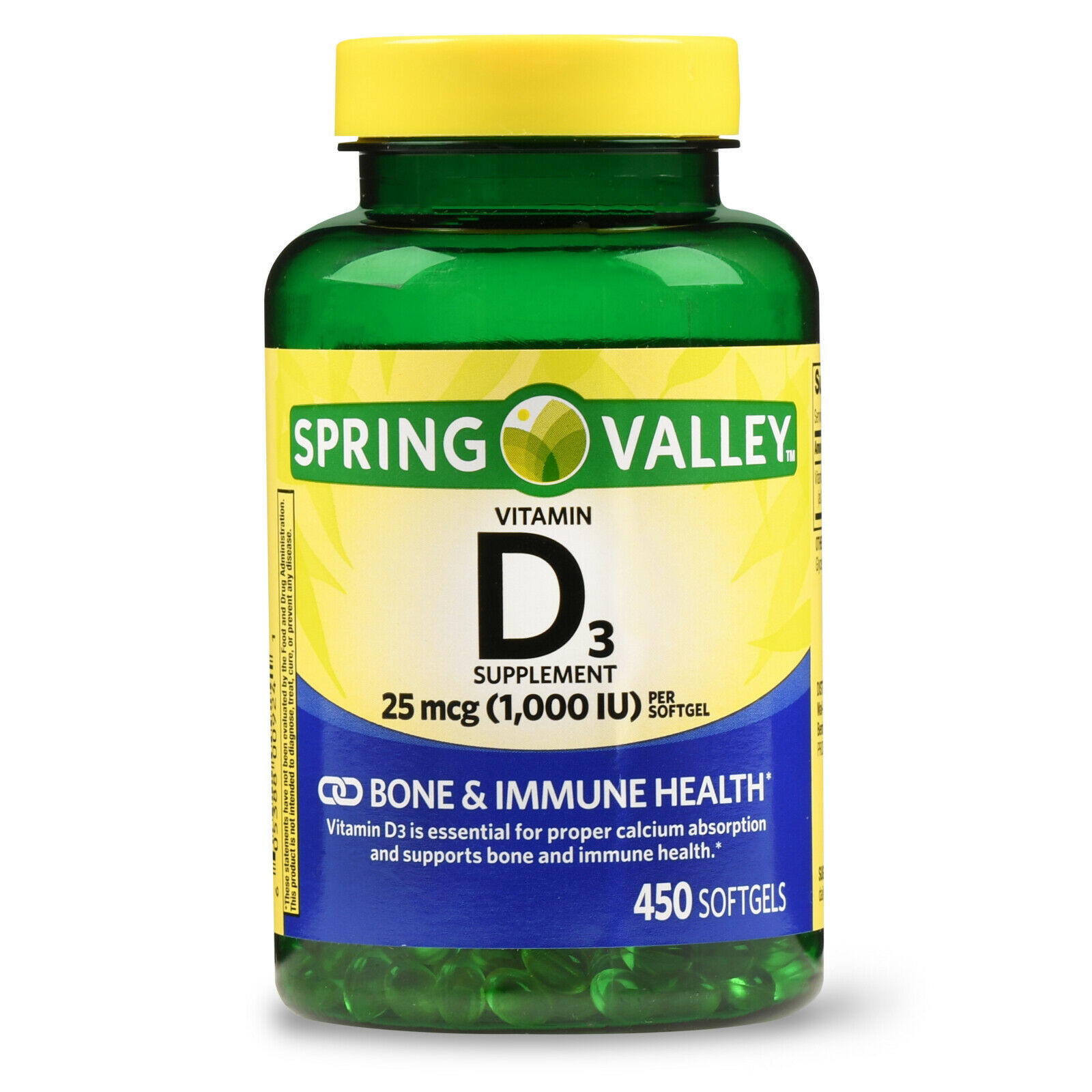 Spring Valley - Vitamin D-3 1000 IU, 450 Softgels