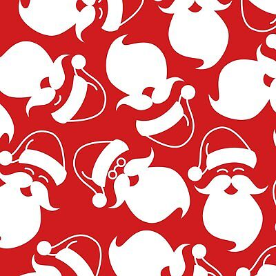 Silhouette Santa's on Red B/G-Foust Textiles-BTY