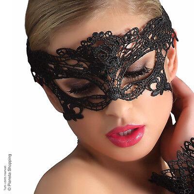 Maschera Sexy Donna Viso Occhi Pizzo Nero Ballo Carnevale Giochi Erotici