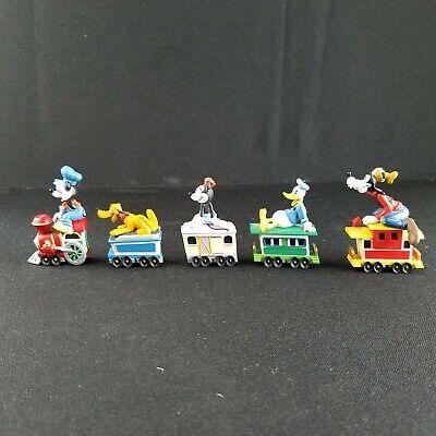 5pc Disney Train Set Collectable Hallmark 1988 Mickey Minnie Pluto Donald XD-817