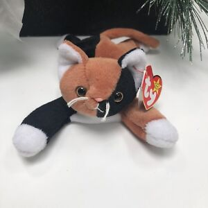 1989ac5d4dc Rare Ty Beanie Baby Chip The Calico Cat With Errors