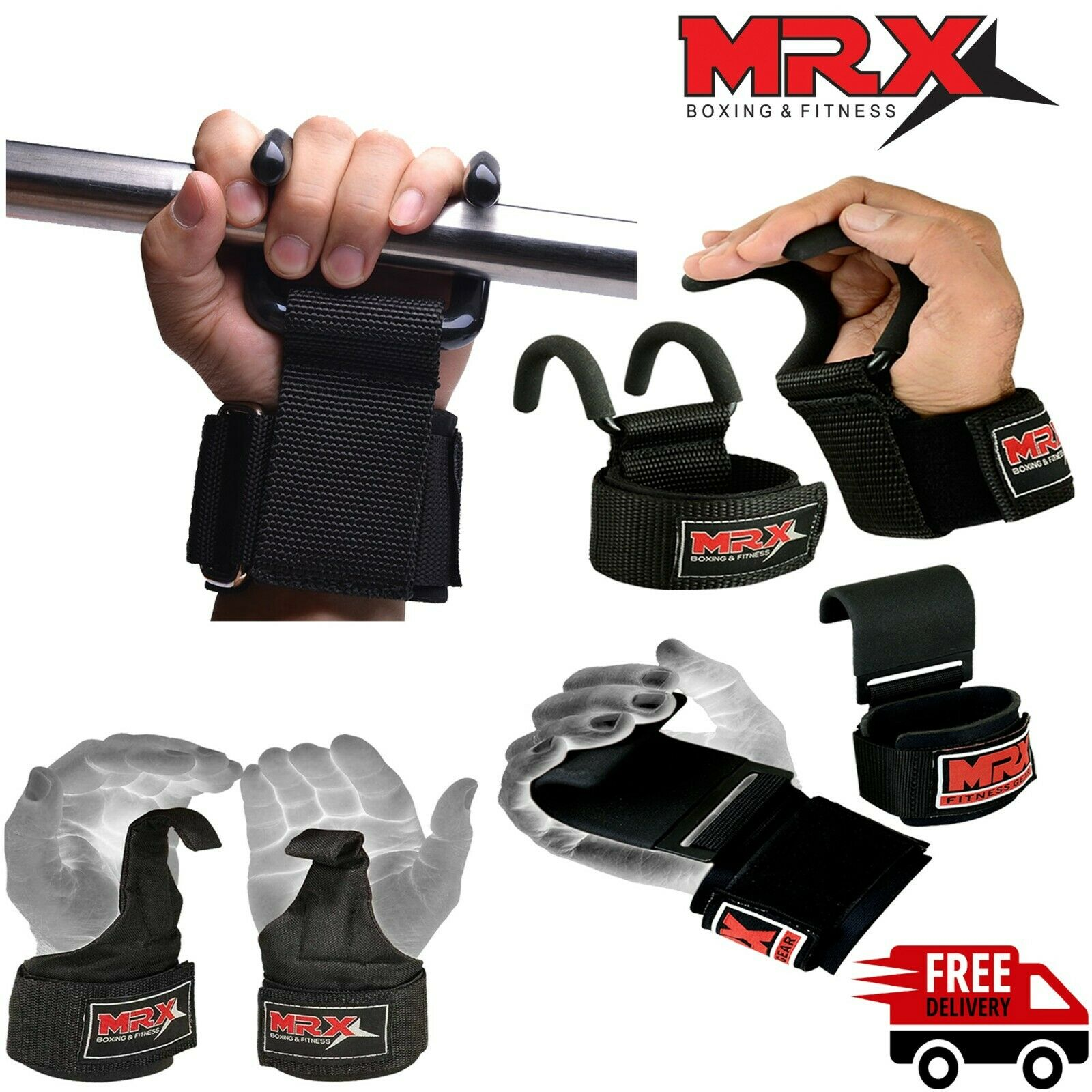 Wrist Wraps Weight Lifting Gym Support Straps Hand Bar Training Workout Deadlift