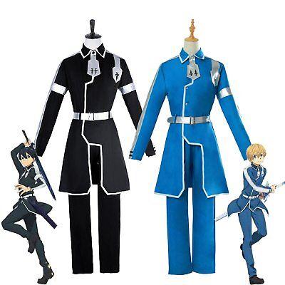 Sword Art Online Alicization Kirigaya Kazuto Kirito Eugeo Outfit Cosplay Costume