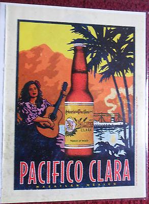1998 Print Ad Pacifico CLARA Beer ~ Mazatlan Mexico Steamboat Girl Guitar Art