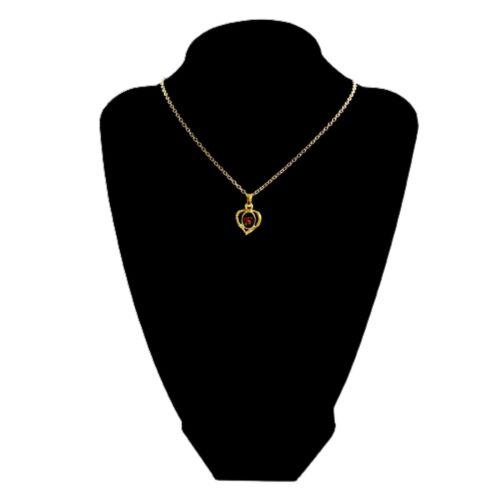 Australian Made Australia Heart Gold Plated Genuine Opal Necklace Chain Pendant