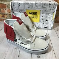 15218103ba69d2 VANS Mens Size 6 SK8-Hi Moc Peanuts Dog House Bone Snoopy Skate Shoes