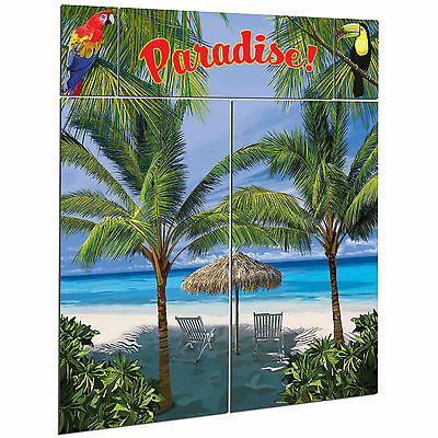Palm Tree Scene (Tropical Palm Tree Paradise Beach Party Scene Setter Wall Decorating)