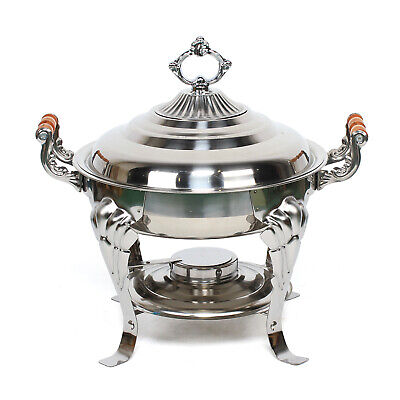 Round Chafing Dish Chafer Roll Top Chafer For Catering Buffet Stainless Steel