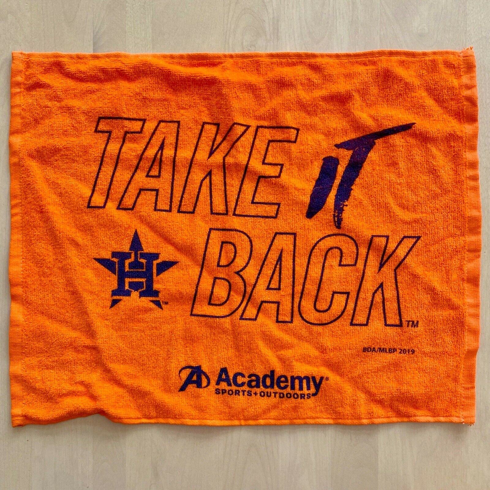 Houston Astros Take It Back Rally Towel 2019 Playoffs SGA Or