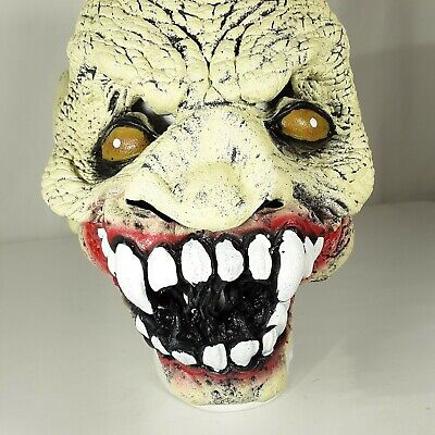 Zombie Head Full Face Head Mask Latex Halloween Costume Scary