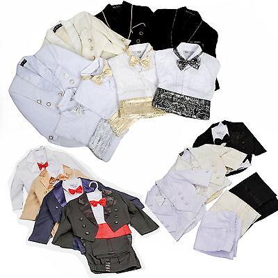Baby Anzug (5 Teile★Frack Baby★Taufe Kinder Kommunionsanzug Hochzeit Taufanzug Fest Anzug 05)