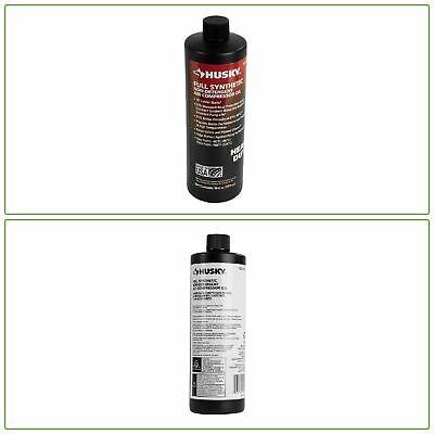 Compressor Oil 100 Full Synthetic Husky Air Compressor Pump Protector 16-oz.