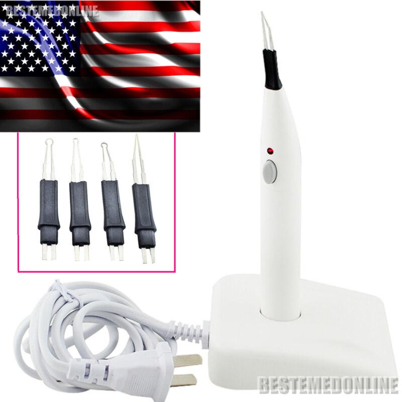 USA Sale !! Dental A-BLADE Gutta Percha Tooth gum Cutter with 4 Differtnt tips