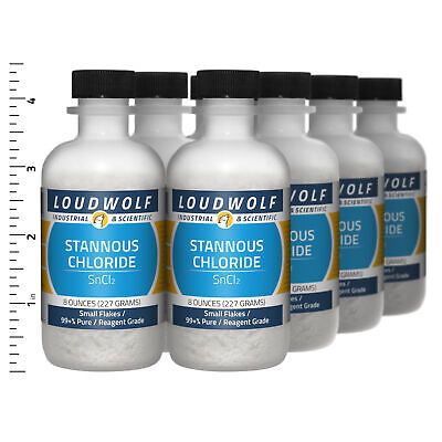 Stannous Chloride 4 Lb Total 8 Bottles Reagent Grade Small Flakes Usa Seller