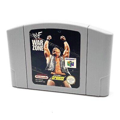Nintendo 64 WWF War Zone N64 Cartridge Game PAL UK WWE Stone Cold Undertaker