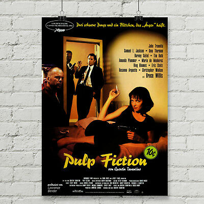 Pulp Fiction Movie Poster Canvas Art Print Quentin Tarantino 12