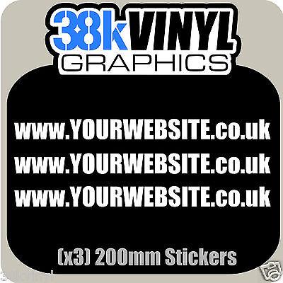 x3 200mm Custom Lettering Website Business Advertising Stickers Vinyl Decals