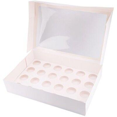 CAKE WINDOW BOX 24 Muffin box mit Fenster (Cupcake Box)
