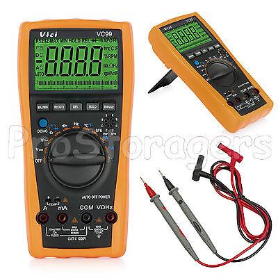 VC99+6999 Auto Range LCD Multimeter Tester AC DC OHM Digital Voltmeter Ammeter