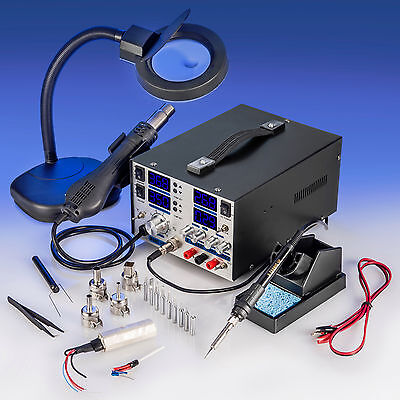 X-tronic Model 8080 Esd Safe Soldering Iron Station Hot Air Dc Power Supply