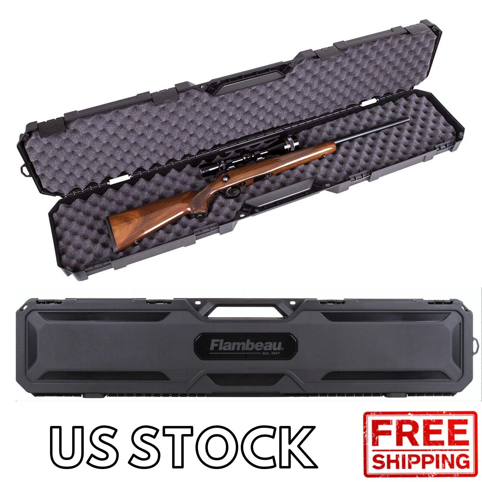 Rifle Shotgun Hard Carry Case Single Gun Storage Box Padded