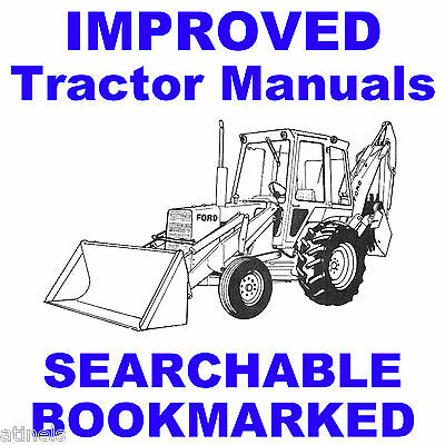 Ford 550 Tractor Loader Backhoe Service Shop Operator Parts Manual Manuals Cd