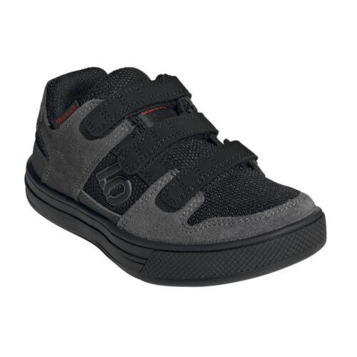 Five Ten Freerider VCS Kids Shoes Mtb Bmx Dh Cycling Clipless Flat BLACK GRAY