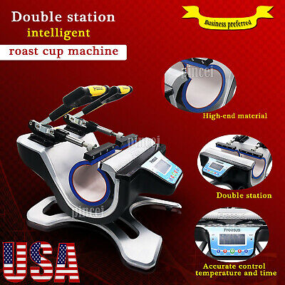 Freesub Automatic Double Mug Heat Press St-210 Sublimation Transfer Printer Usa