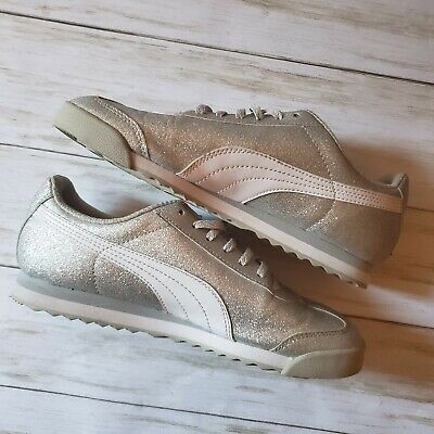 Puma Women's Size 7 Silver Glitter Shoes Casual  Sneakers