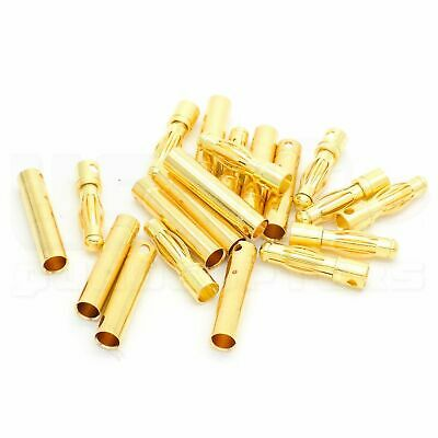 10 Pairs 4mm Bullet Connector Gold Plated Copper Alloy 90A RC Battery Connection