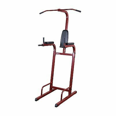 Best Fitness BFVK10 Vertical Knee Raise w/ Pull Up, Push Up Dip Station Home