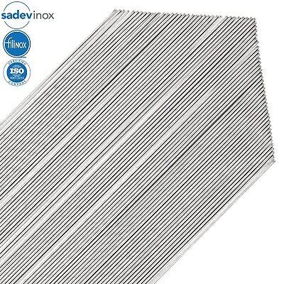 Sadevinox Stainless Steel 304l Round Bars - 16 Gauge 1.5 Mm - 3.3 Ft - 70 Rods