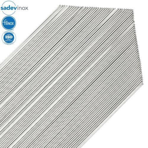 SADEVINOX Stainless Steel 304L Round Bars - 16 Gauge / 1.5 mm - 3.3 ft - 70 Rods
