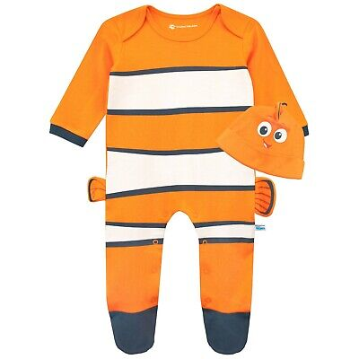 Baby Finding Nemo Sleepsuit and Hat Set | Disney Finding Nemo Babygrow and Hat S