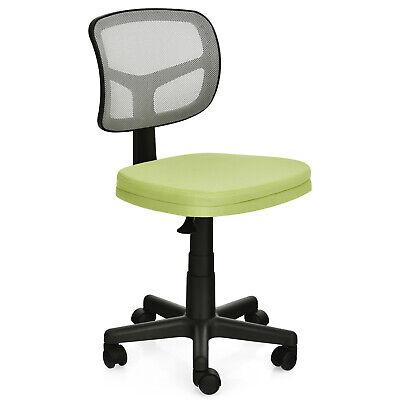 Costway Armless Office Chair Adjustable Swivel Computer Mesh Desk Chair Green