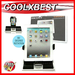 NEW SCOTT iPAD iPOD iPHONE 4 5 SPEAKER CHARGING DOCK 30 PIN + 8 PIN LIGHTNING